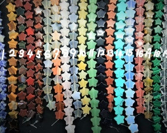 20pcs/lot - 11mm Stone Star Beads -central drilled