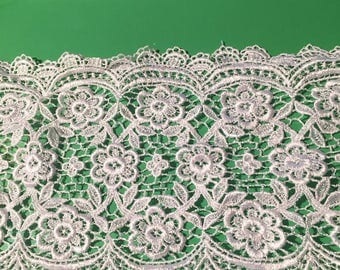 Alencon White Lace Trim