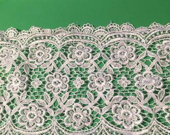 Alencon White Lace Trim