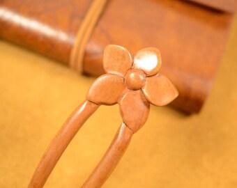 Wooden Hair Stick Hair Fork Peach Wood