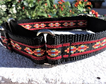 """Tribal Southwest Martingale collar or Quick Release 3/4"""" or 1"""" wide adjustable for small to large dogs sizes Sm - XXL"""
