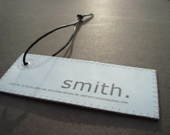 Cool gift for men - Minimalist Leather Design Luggage tags. Personalized. Travel set of 2.