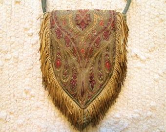 Small Boho Gypsy Fringe Cross Body Cell Phone Bag