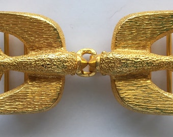 Vintage Mimi Di N Swallows Belt Buckle M  Mimi D. Niscemi 1973