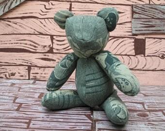 hand made camp blanket teddy bear