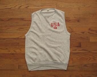 vintage sleeveless sweatshirt