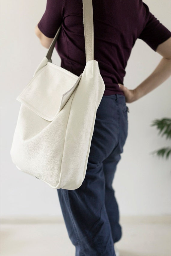 FOKS FORM Tote Bag 02, Minimal leather tote bag, handbag, shoulder bag