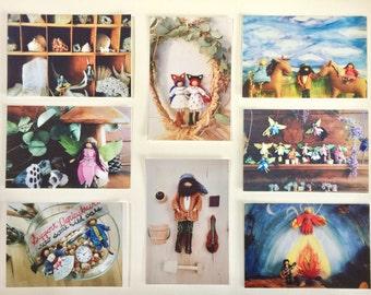 Wee Folk and Fairy Folk Postcard Set - Art Cards ~ Waldorf-inspired