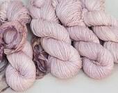 Hand dyed Yarn merino bamboo silk Annabelle sock yarn, Petal