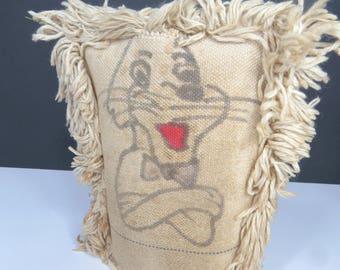 Vintage Carnival Punk Rabbit, Carnival Knock 'Em Down Game, Folk Art Circus, Carny Game