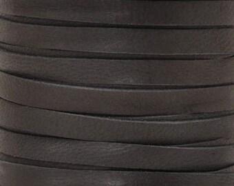 Leather Lace-3mm Deerskin Lace-Black-2 Yards