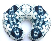 Indigo- Boppy Cover- nursing pillow- Indigo Windows- April Rhodes- tie dye- navy- gender neutral