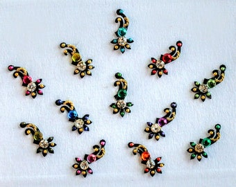 Bindi Stick on Colorful Indian Dots Bollywood Belly Dance Tattoo India