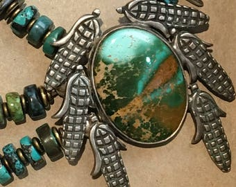 Artisan necklace #6...Southwest style Silver and Turquoise