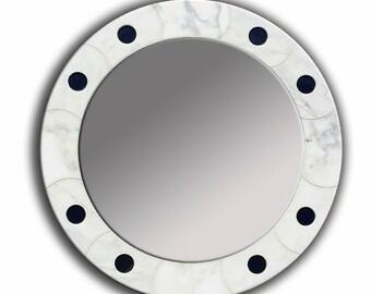 Firenze Mirror, Round Mirror, Carrara Mirror, Porcelain Mirror, Mirrors, Glass Mirror