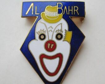 Vintage Enamel Masonic Al Bahr Clown Shriner Brooch Pin