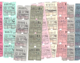 10 x 4 GLASGOW vintage tickets - Antique 40 ticket set from United Kingdom