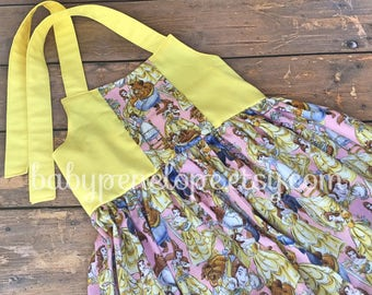 Belle Dress - Belle Birthday Outfit - Cute Birthday Dress - Beauty and the Beast Movie Outfit - Belle Birthday Party