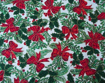 Christmas Bows Cotton Fabric, Christmas Fabric, Christmas Cotton, One Yard, Quilting Cotton, Quilt Fabric, Cotton Fabric, Holiday Fabric