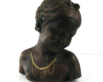 Victorian Swag Gold Choker Necklace