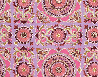 Mantra in Violet Dream Weaver Fabric by Amy Butler - 1 Yard