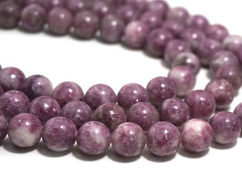 LEPIDOLITE beads, 12mm round, natural pink gemstone, full & half strands available   (1240S)