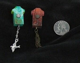 OOAK Birdhouse Magnet Set, Handmade, from Bluebird Creations, Item #2201
