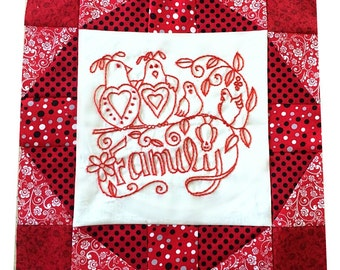 quilt pattern, quilting, embroidery, pattern, family, sewing, redwork, digital pattern