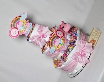 Baby Diaper Cake Noah's Ark GIRLS BOYS NEUTRAL Shower Gift Centerpiece