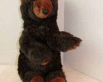 Folkmania Grizzly Bear Puppet plush stuffed animal toy