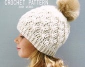 CROCHET PATTERN, The Cadence Crochet Hat Pattern, Crochet Hat Pattern, Crochet Cables, Craft Supply, DIY Hat Pattern