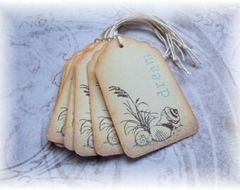 Sea Shells - Ocean - Dream - Gift / Hang Tags (8)