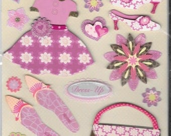 K & Company LLO  -- Dress Up --  NEW --  dimensional stickers  (#2231)