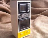 Vintage Miniature Oven and Microwave - Dollhouse Furniture - Tomy - Made in Japan