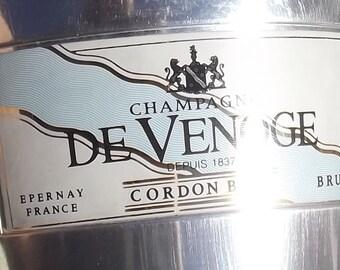 Vintage French Champagne Bucket Ice Cooler De Venoge Cordon Bleu Eperany