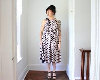 The Antoinette - handmade reversible trapeze dress - Polka Dot