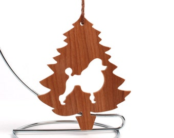 Poodle Ornament Christmas Tree Dog Silhouette Poodle Christmas Decoration Wood Dog Ornament Pet Ornament