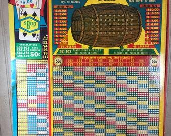 Vintage Pair of Gambling Punch Boards