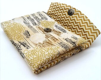 Cash Envelope System - Gold and Cream - Envelope System with Music and Chevron