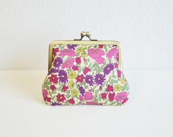 "Frame purse - Liberty ""Poppy and Daisy"" floral coin purse"