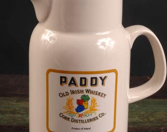 Carrigcraft, Ireland Pitcher for Paddy Whiskey and Jameson Whiskey