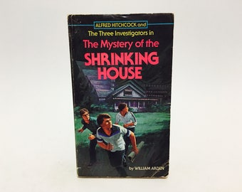 Vintage Children's Book Alfred Hitchcock: The Mystery of the Shrinking House 1972 Paperback