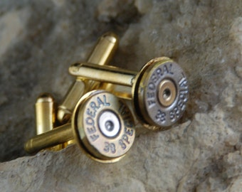Beautiful Pair of Steampunk 38 Special Bullet Cuff links CL 63