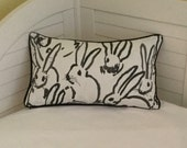 Groundworks Bunny Hutch in Black Designer Lumbar Pillow Cover