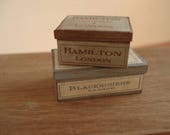 Miniature wooden vintage boxes