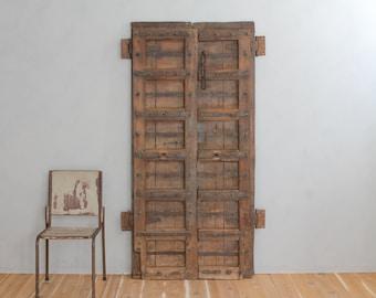 Salvaged Vintage Teak Wood Indian Doors