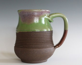 Pottery Coffee Mug, 16 oz, ceramic cup, handthrown mug, stoneware mug, pottery mug, unique coffee mug, ceramics and pottery