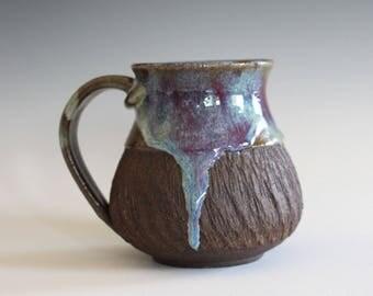 Coffee Mug, 14 oz, handthrown ceramic mug, stoneware pottery mug, unique coffee mug, stoneware mug, coffee mug pottery, pottery mug