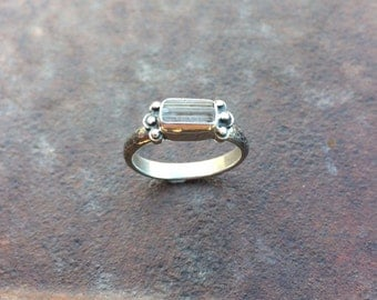 Scapolite Crystal & Sterling Silver Ring - Raw Crystal Ring - Natural Scapolite Ring