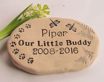 Memorial Garden stone Personalized for your beloved pet ~ Permanent. Large. Unique. Pet Memorial stone / Grave marker. Heavy outdoor quality